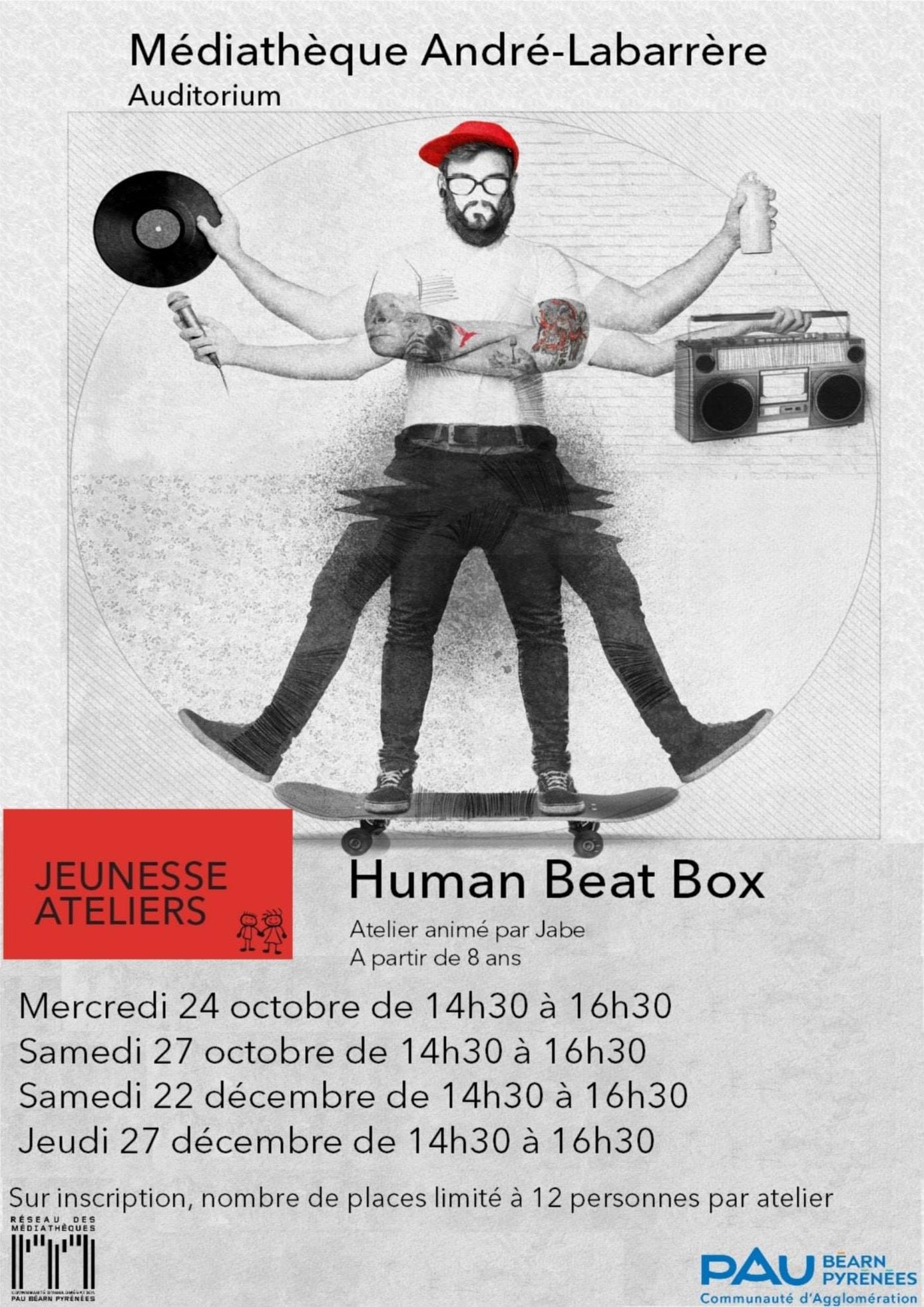 Atelier human beatbox à la médiathèque André Labarrère