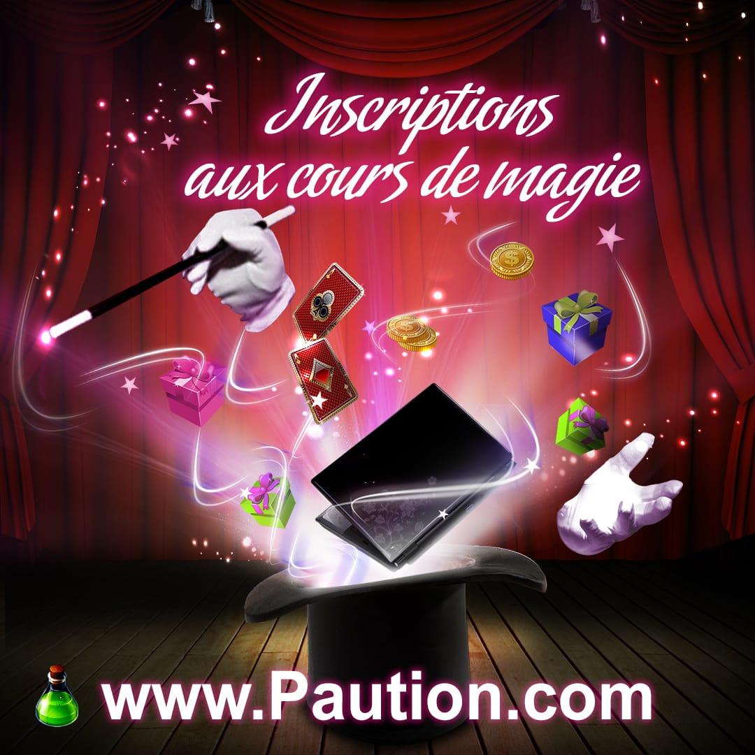 Inscriptions cours de magie à Pau